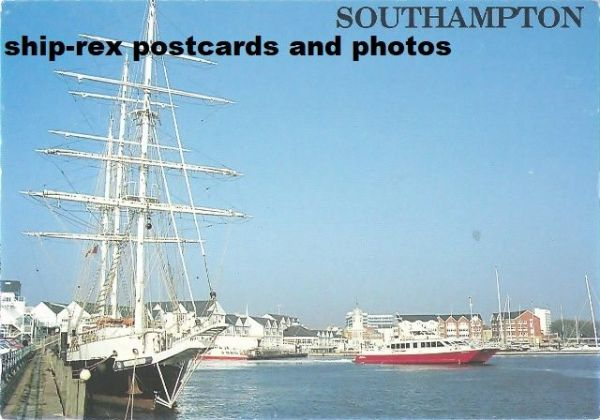 LORD NELSON (1986) & RED JET 2 at Southampton - postcard